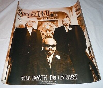 CYPRESS HILL~Till Death Do Us Part~Promo Poster~Double Sided~24x24~NM Cond~2004