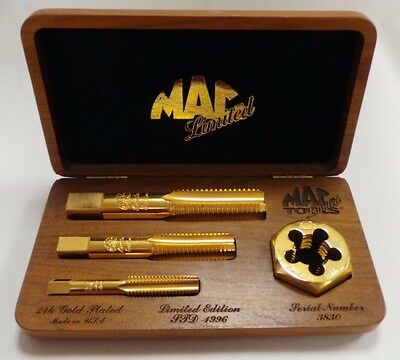 MAC Tools Limited Edition 1996 24K Gold Plated Tap and Die Set