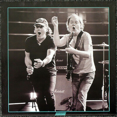 Ac/dc Brian Johnson & Stevie Young Poster Page . 30 X 30 Cm