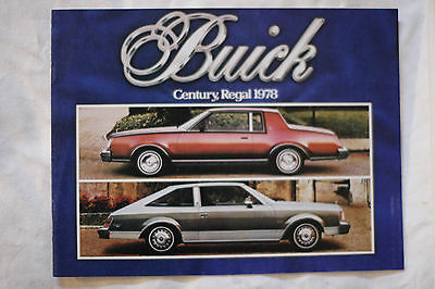 BUICK CENTURY REGAL 1978 brochure sales catalog - French