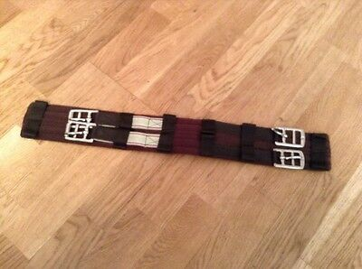 Brown 18 Inch Aerborn Dressage Girth With Elasticated End