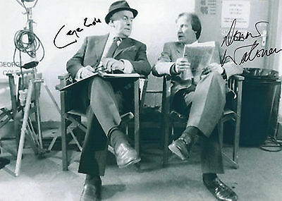 Authentic Signed George Cole + Dennis Waterman  Minder 12X8 .real Signatures.coa