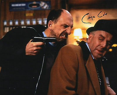 Authentic Signed George Cole 10 X 8 Minder Photo Daley Real Signature...coa...