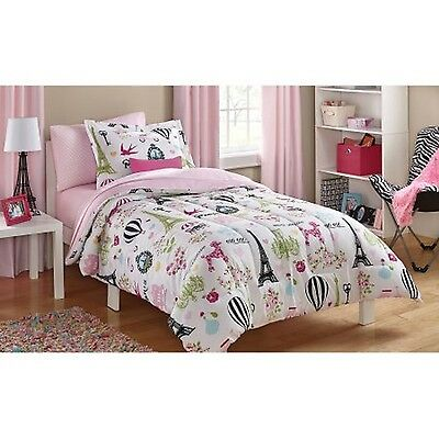 Mainstays Kids Paris Bed in a Bag Bedding Set Twin