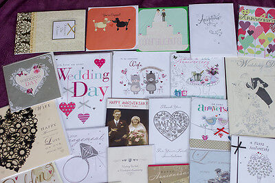 50 wedding and anniversary cards wholesale job lot greeting cards