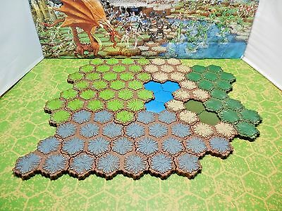 87 Hexes of Heroscape Terrain  Grass, Rock, Sand, Water, Swamp and Swamp Water