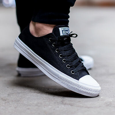 Converse Chuck Taylor All Star II 2 Black Low LUNARLON Shoes 150149C DISCONTIUED