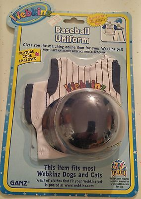 Webkinz Baseball Uniform for Dogs and Cats - New In Package