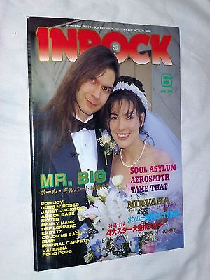 INROCK Japan magazine book 6/1994 ! NIRVANA MR.BIG BON JOVI AEROSMITH MADONNA