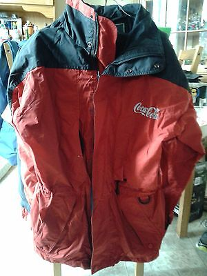 Coca-Cola Long Driver's Jacket by WearGuard, size small