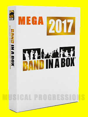 Band In A Box 2017 Megapak Windows - Audio Music Software New In Box Full Retail
