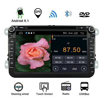 UK 8''Android 7.1 Car Stereo DVD Player GPS Navigation For VW GOIF TOUAREG Radio
