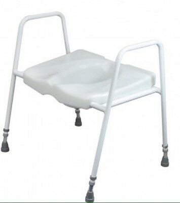 Disability/Mobility Aid Adjustable Raised Toilet Seat And Frame