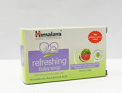 Himalaya Refreshing Baby Soap 75G With Watermelon, Khuskhus & Neem Free Shipping