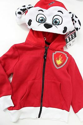 Nickelodeon Paw Patrol Toddler Boys' Marshall Hooded Jacket Hoodsbee Red 3T NWT
