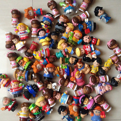 10Pcs Random No repeat Fisher Price Little People and Animal Mini Figure lot