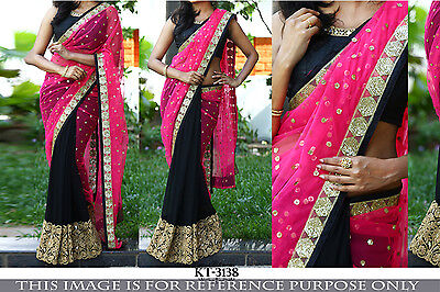 Designer Party Wear Wedding Indian Pakistani Latest Saree Sari Bollywood Ethnic