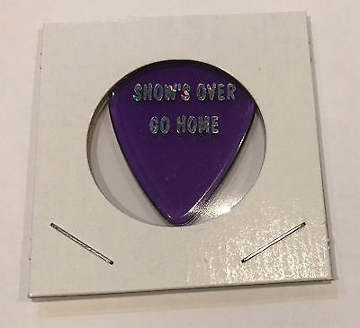 The Black Crowes - 1998 Tour Show's Over Go Home Guitar Pick Purple & Silver