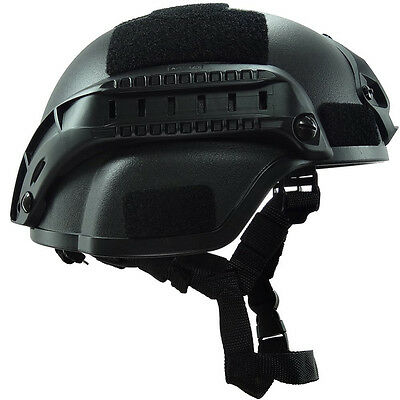 Tactical Airsoft Paintball Breathable Climbing Protective Combat Helmet Black