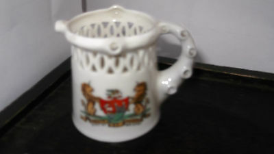 ? Vintage  Crested Ware Puzzle Jug  By Gemma China   Crested City Of Bristol