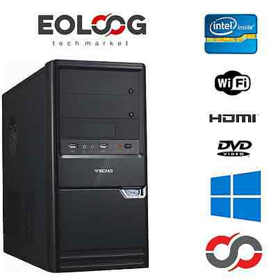 Pc Desktop Nuovo Computer Fisso Intel Dual Core 8 Gb Ram Wifi Windows Originale