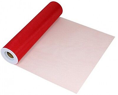 Eleganza Tulle Finesse Roll Red Lightweight Fine Structured 12 Inch x 25 Yard