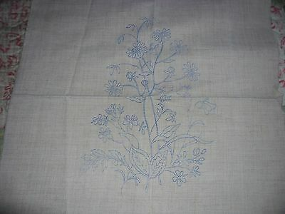 Linen mix cushion cover for embroidery