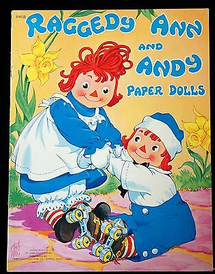 Uncut Paper Doll Book - Raggedy Ann & Andy - Ehel Hayes 1944