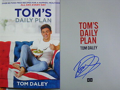 Signed Book Tom's Daily Plan Healthy Eating & Fitness Guide Tom Daley 1st ed pbk