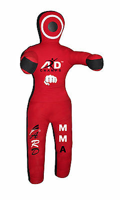 ARD CHAMPS™ Brazilian Jiu Jitsu Red Canvas Grappling Dummy MMA Wrestling Judo