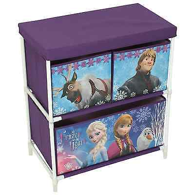 Disney Frozen Childrens Kids Drawer Books Toys Storage Box