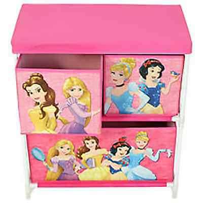 Disney Princess Children Kids Drawer Books Toys Storage Box