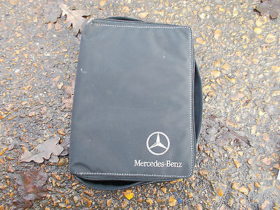 Mercedes Benz Black Fabric Zip-Up Folding Wallet For Vehicle Documents Etc