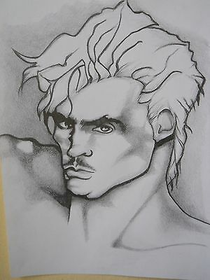 MALE PORTRAIT DRAWING....gay interest....9 X 12 INCHES
