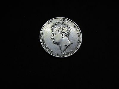 GEORGE 1V Silver HALF CROWN DATED 1826 HIGH GRADE
