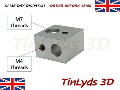 1X MK10 Heater Block BIQU M7 THREAD ,MAKERBOT,WANHAO,DREMEL - 3D printer part