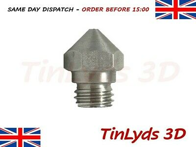 MK10 3D Printer Nozzle Stainless Steel , M7 Thread Carbon - High Temp Range