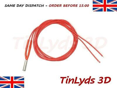 12v 40w Heater Cartridge Cable for Hot End - 6x20 Element - Anet A8-Reprap etc