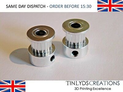 2X S2M PULLEYS 5mm Bore 17 Teeth ,CTC upgrade fits Wanhao , 3D printer part