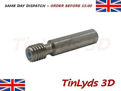 1x MK8 Extruder Thermal Barrier Throat M6x30mm 1.75mm , CTC  3D printer part