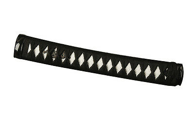 Japanese Samurai Katana Delicate black Sybthetic Silk ITO White Rayskin Handle