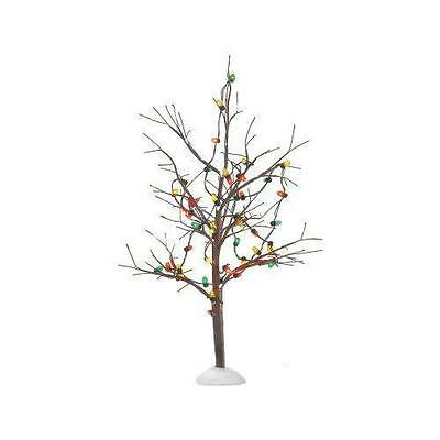Department 56 Heritage Village - LIGHTED CHRISTMAS BARE BRANCH TREE - NIB