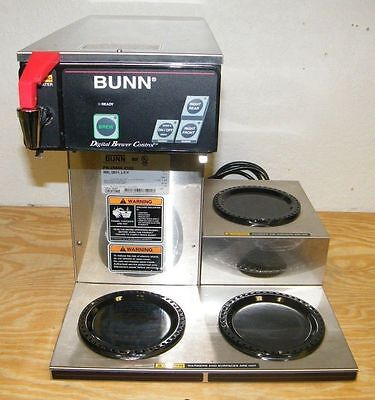 Bunn Automatic Commercial Coffee Brewer - 3 Warmers- Cdbcf15 -Stainless Steal