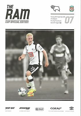 Derby County v Liverpool 2016/17 EFL Cup brand new football programme