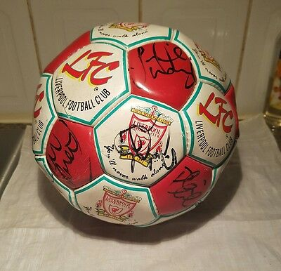 Liverpool FC Signed Football Late 1980's early 90's Legends - 18 Signatures.