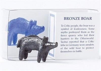 Small Bronze Plated Celtic Boar Figure