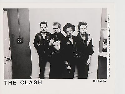 Classic Promo Photo Reprint of The Clash Band on Location Punk