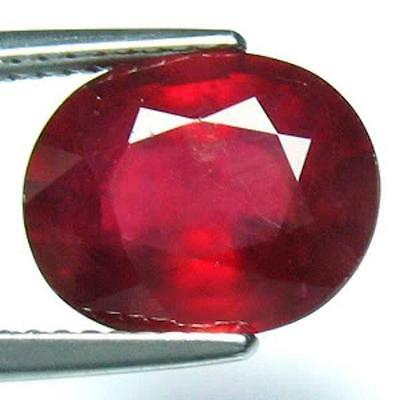 Lovely 4.15 Ct Certified Natural Top Grade Oval Blood Red Mogok Ruby