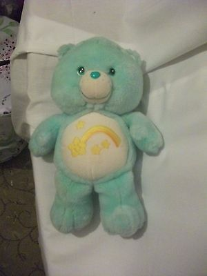 "13"" cute soft glowing symbol wish bear from the care bear vivid plush doll"