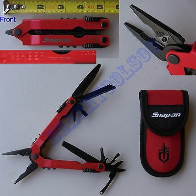 New Snap On Red Gerber Multiplier One-Hand 14 Multi-Tool Pliers GMT97R USA